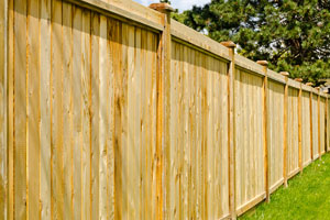 Privacy fence installation in Tampa